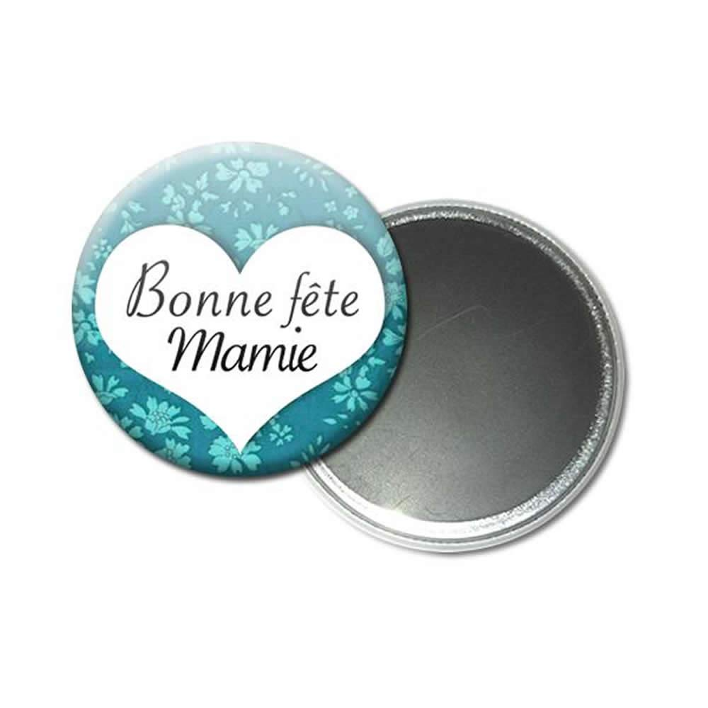 Magnet Aimant 5,6 centim/ètres Bonne F/ête Mamie Id/ée Cadeau Accessoire Grand M/ère