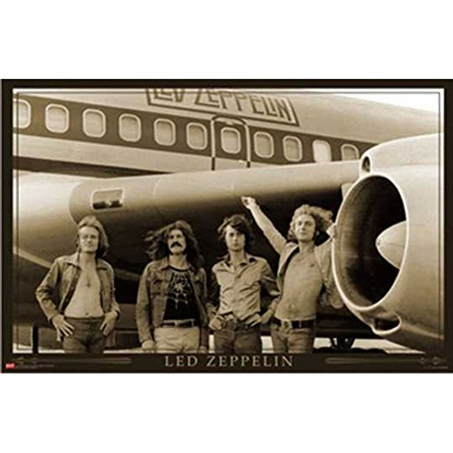 Led Zeppelin - Airplane 24x36 Standard Wall Art Poster (Poster Led Zeppelin Music)