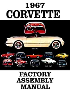 fully illustrated 1967 corvette factory assembly instruction manual - guide  - all models convertible, hardtop