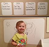 pocket chart stand dry erase - Dry Erase Sheets with Dry Erase Marker - Heavy Duty 4 mil (8.5