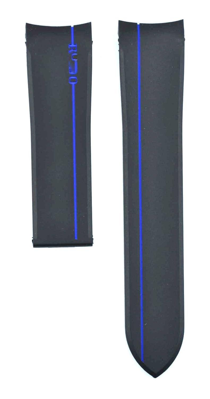 22 mm Diver Rubber suitable for Hyperchrome自動ウォッチバンドストラップ 22mm red B074TDXRQ6