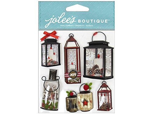 Ek Jolees Boutique Felt - EK Jolee's Boutique Holiday Lanterns & Holly