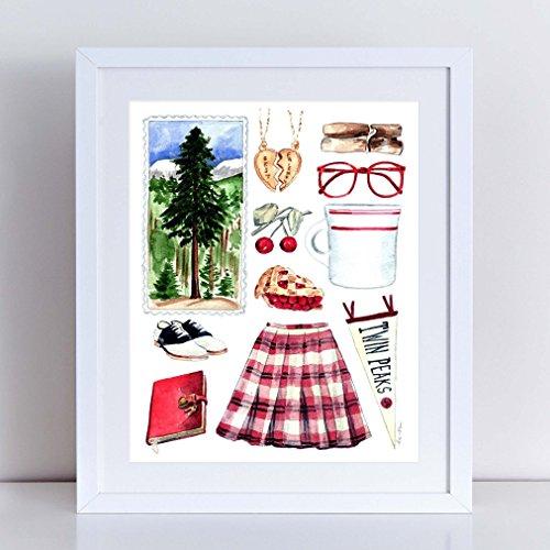 Twin Peaks Art Twin Peaks Painting David Lynch Laura Palmer Twin Peaks Showtime Washington State Art Twin Peaks Costume Log Lady Cherry Pie Fine Art (Twin Peaks Costumes)