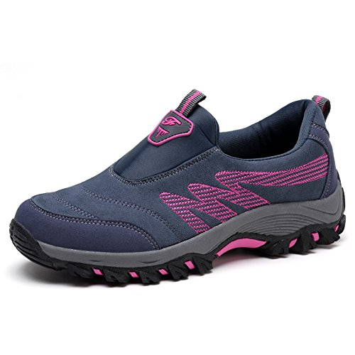 Hasag Zapatos Planos Viejos de Primavera Zapatos de Deporte de Madre Suave Antideslizantes Femeninos Zapatos Casuales de Mediana Edad M3 dark grey rose