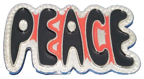 Peace Music Love Belt Buckle Cool (Love Belt)