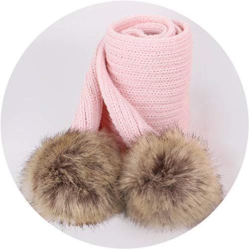 Knit Beanie Hat Autumn Winter Boy Girl Warm Thicken Soft Cap Baby Beanies Kids Skullies,Pink
