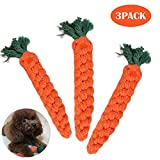 Bojafa Puppy Small Medium Dog Rope Chew Toys Durable Carrot 3pcs for Pet Tooth Cleaning/Chewing/Playing