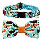csspet Sushi Cat Collar Bow Tie Breakaway Safety