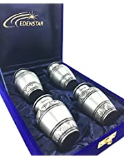 EDENSTAR NEXTG Premium Quality Classic Memorial Mini Keepsake Urns Handcrafted to Perfection Engraved with Unique Design - Small Keepsakes Cremation Urn for Ashes Handmade Funeral Urns Set of Four