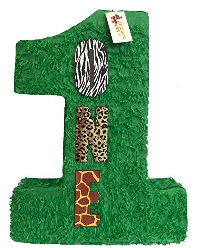 (APINATA4U Large Green Number One Pinata 23