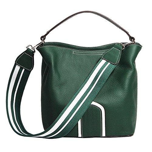 cuir fashion bandoulière à Sac 182 Vert femme LF main épaule portés Sac en DISSA Sac qXOpg0