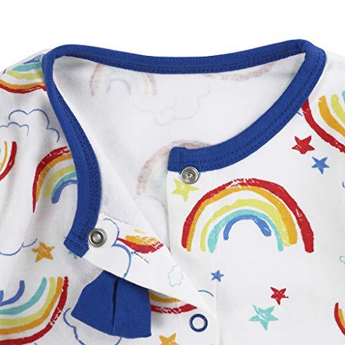 Bebé Pijama de Algodón Mameluco Niñas Niños Pelele Mono Manga Larga Trajes 0-12 Meses