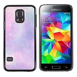 Caucho caso de Shell duro de la cubierta de accesorios de protección BY RAYDREAMMM - Samsung Galaxy S5 Mini, SM-G800, NOT S5 REGULAR! - Clouds Purple Pink Cosmos