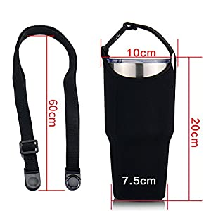 Dofover Sleeve Carrying Pouch Bag Neoprene Water Bottle Case Holder Carrier-for Travel/Walking/Hiking/Camping -for Yeti Tumbler Rambler