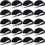 Gejoy 20 Pieces Letter Opener Envelope Slitter Set Openers Razor Blade Paper Knife for Home, Office (Black)