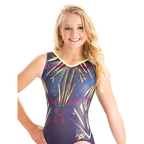 GK Elite Nastia Liukin Neon Blast Leotard Adult Large AL by GK Elite