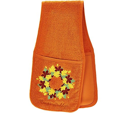 Harvest Pot Holder (Campanelli's Cooking Buddy - Professional Grade All-In-One Pot Holder, Hand Towel, Lid Grip, Tool Caddy, and Trivet. Heat Resistant up to 500ºF! As Seen On QVC. (Limited Edition: Harvest Spice))