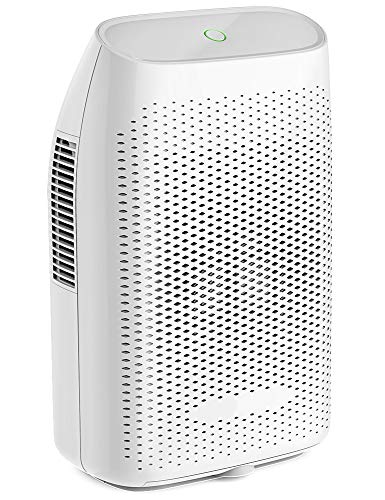 Hysure Portable Mini Dehumidifier Electric, Small Air Purifier, Deshumidificador, Bathroom Dehumidifier for Home, Crawl space, Bathroom, RV, Baby Room, White by Hysure