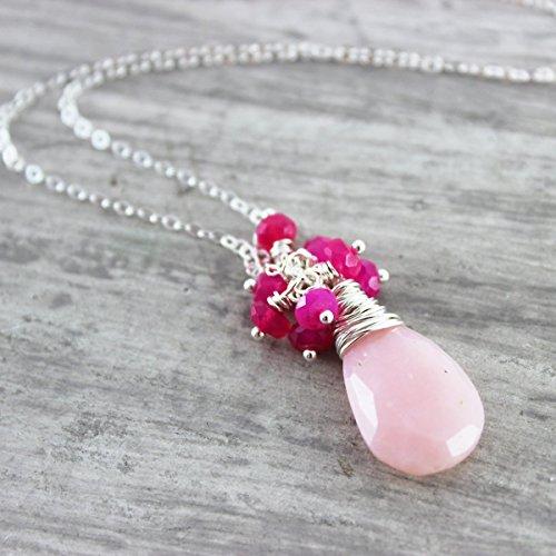 Pink Peruvian Opal Pendant - 4
