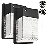 2-PACK 25W Dusk to Dawn LED Wall Pack, Photocell Outdoor LED Wall Mount ...