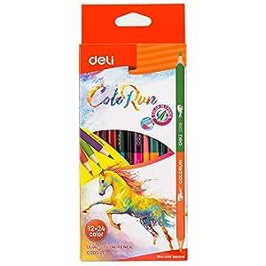Deli school multiple color pens students children art painting graffiti office color pens stationery 1 set /12 pieces