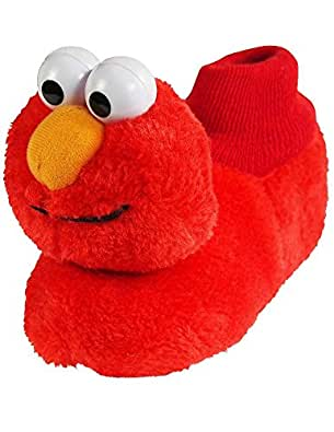 Amazon.com | Elmo - Toddler Boys Slippers, Red 38104-L9-10 ...