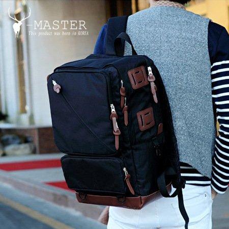 Mochilas de senderismo, bolsas, bolsas de senderismo, bolsas al aire libre, impermeable Hombre de gran capacidad de ocio bolsa de viaje, bolsa, mochila, mochila, mochila para estudiantes, Oxford, negr Black