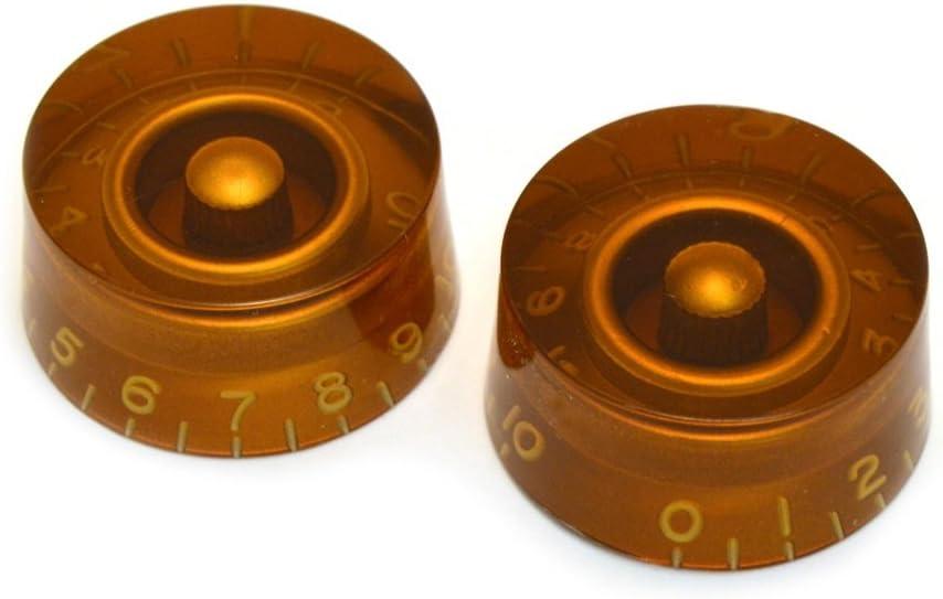 Allparts PK-0130-022 Vintage Style Amber Speed Knobs