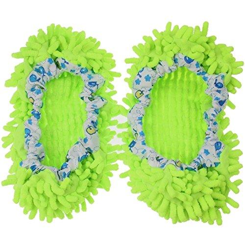 Vert Ju À Couvres Pour Supplies Paire 1 Bathroom couleur De chaussons sheng Vadrouilles Propres Chaussures Vert Multifonctions Nettoyage qwq1av