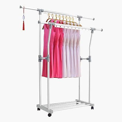Amazon.com: MEIDUO Clothing Garment Rack Adjustable Rolling ...