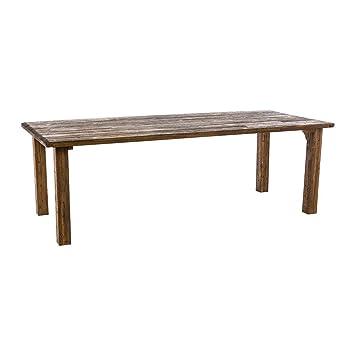 Amazon De Pureday Gartentisch Ponto Vintage Look Holz Rechteckig