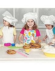 SDFR Kinderen Koken En Bakken Set Kids Bakken Set Schort Chef Hoed Bakken Tool Handschoenen Rollenspel Speelgoed Gift Voor 3 4 5 6 7 8 Jaar Oude Kleine Meisjes Jongens 26 Stks/14 STKS