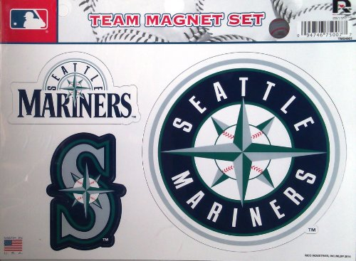 Rico Industries MLB Seattle Mariners MLB Team Magnet Sheet, Blue, 11
