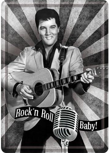 Rockn Roll Baby Blechpostkarte 10 x 14 cm The King Nostalgic-Art 10194 Celebrities