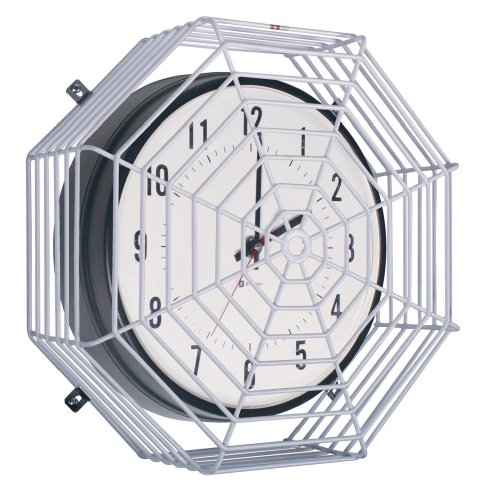 Safety Technology International, Inc. STI-9632 Clock/Bell Damage Stopper 16.5 Inch Diameter, Protective Coated Steel Wire (Cage Octagon Shape)