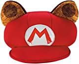 Super Mario Bros Nintendo Mario Raccoon Costume Hat Adult