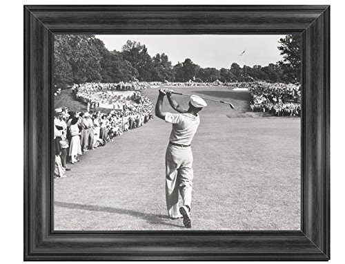 (16 x 20 Wood Framed Print Ben Hogan with the Perfect Swing)