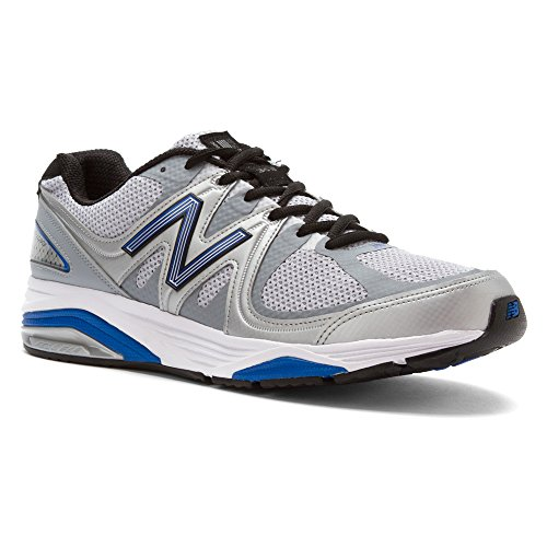 New Balance Men's M1540V2 Running Shoe,Silver/Blue,12 D US