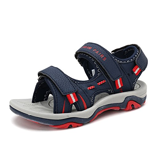 d6e78c80c19f6 DREAM PAIRS Big Kid 170891 K Navy Red Fashion Athletic Sandals Size 6 M US  Big Kid