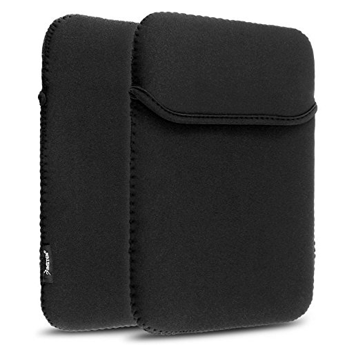 Simply Silver - Black Neoprene Soft Tablet Sleeve Case Bag f