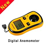 Digital Anemometer,V-Resourcing Hand-held LCD Backlight Wind Speed Measuring Anemometer for Windsurfing Kite Flying Sailing Surfing Fishing Etc