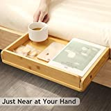 Amada Bedside Shelf for Bed with Cable Management