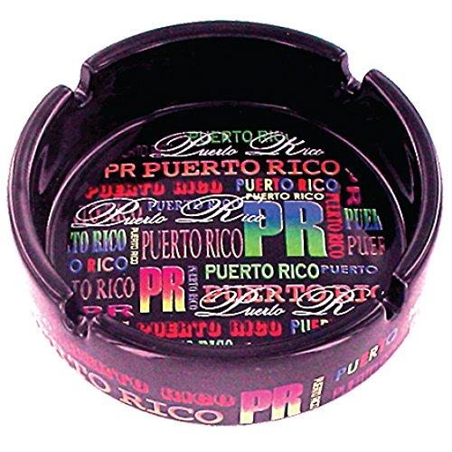 Rockin Gear Ashtray Puerto Rico Neon Signature Souvenir Ceramic Ashtray ()