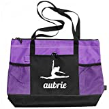 Ballet Dance Girl Aubrie: Gemline Select Zippered Tote Bag