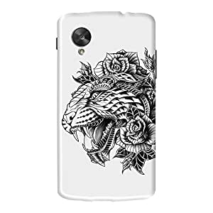 DailyObjects Ornate Leopard Case For LG Google Nexus 5 (Black) (Back Cover)