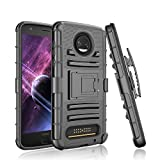 Moto Z2 Force Case , Moto Z2 Force Droid Case, Tinysaturn(TM) [Ystorm Series] [Black] Shock Absorbing Belt Clip Kickstand Full Body Defender Armor Case For Motorola Moto Z Force (2nd Generation)