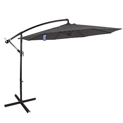 Attractive Sundale Outdoor 10 Feet Aluminum Offset Patio Umbrella With Crank And Cross  Bar Set, Cantilever
