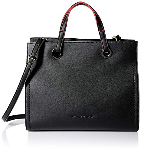 (A|X Armani Exchange Women's Medium Handbag, nero - black 204)