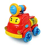 Kids Pull Apart Fire Truck Baby Car Rattle STEM Toy Rolling Toddlers Developmental Game Fine Motor Skills Toys Girls and Boys