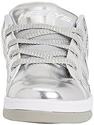 Heelys Split Chrome Skate Shoe (Toddler/Little Kid/Big Kid), Silver, 8 M US Big Kid